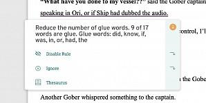 Glue Word analysis suddenly changed